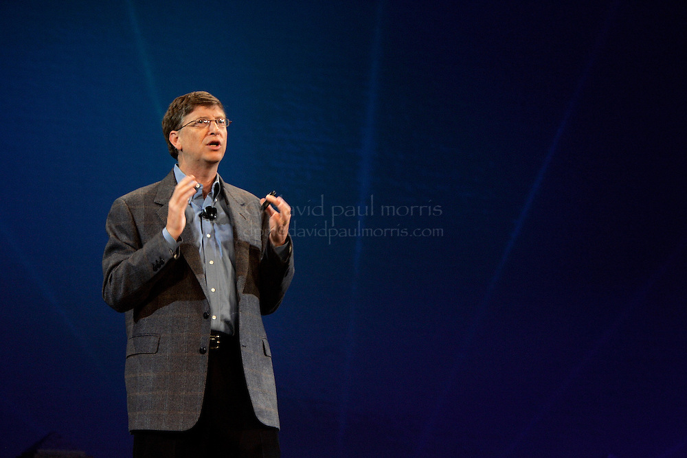 SAN FRANCISCO - FEBRUARY 15: Microsoft Chairman Bill Gates delivers the keynote speech at the fourteenth annual RSA conference at the Moscone Center in San Francisco, California on February 15, 2004   (Photo by David Paul Morris)