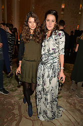 Left to right, SARAH ANN MACKLIN and ROSANNA FALCONER at the IWC Schaffhausen hosted Private Screening of The Lobster In Celebration Of The BFI - before the screening a drinks reception was held at The Langham Hotel, London on 15th October 2015.