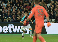 Football - 2017 / 2018 EFL (League) Cup - Third Round: West Ham United vs. Bolton Wanderers<br /> <br /> Marko Arnautovic (West Ham United)  picks out his pass to set up Diafra Sakho (West Ham United)  for his teams second goal at the London Stadium.<br /> <br /> <br /> COLORSPORT/DANIEL BEARHAM