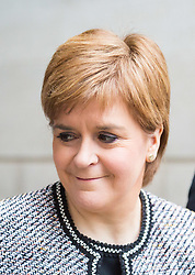 London, January 14 2018. First Minister of Scotland Nicola Sturgeon attends the Andrew Marr Show at the BBC's New Broadcasting House in London.. © Paul Davey