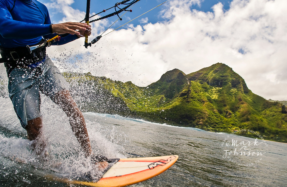 Kitesurfing, Kauai, Hawaii <br /> <br /> ***Model Release Available