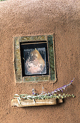 "Carol Anthony's  aptly named ""Casita Pear"" adorns the casita wall."