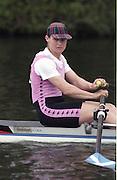 "Henley on Thames. Henley. GREAT BRITAIN;  <br /> GBR W1X. Fiona FRECKLETON,<br /> 1995 Women's Henley Regatta. Henley Reach. River Thames.<br /> <br /> [Mandatory Credit; ""Photo, Peter Spurrier/Intersport-images]"