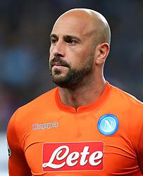 Pepe Reina of Napoli - Mandatory by-line: Matt McNulty/JMP - 17/10/2017 - FOOTBALL - Etihad Stadium - Manchester, England - Manchester City v Napoli - UEFA Champions League Group F