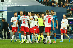 November 5, 2019, St. Petersburg, Russia: Russian Federation. Saint-Petersburg. Gazprom Arena. Football. UEFA Champions League. Group G. round 4. Football club Zenit - Football Club RB Leipzig. Player of Zenit football club Artyom Dziuba  (Credit Image: © Russian Look via ZUMA Wire)