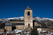 Église de la Trinité et Sainte-Marie, Prats Balaguer, in the Pyrenees Orientales, France. The church dates to the 11th century.