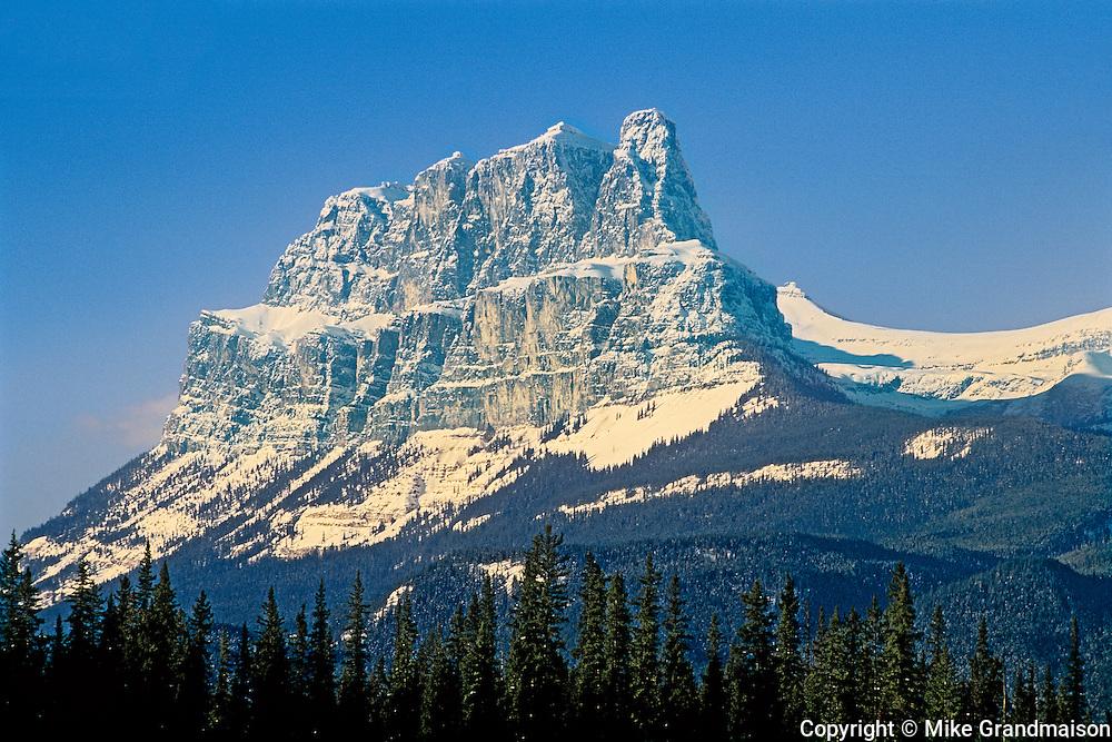 Peak of Castle Mountain<br /> Banff National Park<br /> Alberta<br /> Canada