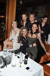 JULIA GONCHARUK, CAPRICE BOURRET, LISA TCHENGUIZ, VERONICA VORONINA, MONIKA KUCZEWSKA at a dinner hosted by de Grisogono at 17 Berkeley Street, London on 12th November 2012.