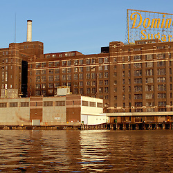 The old Domino Sugar factory in Baltimore's harbor now remains as a tribute to Baltimore's more industrial past...Photo by Susana Raab