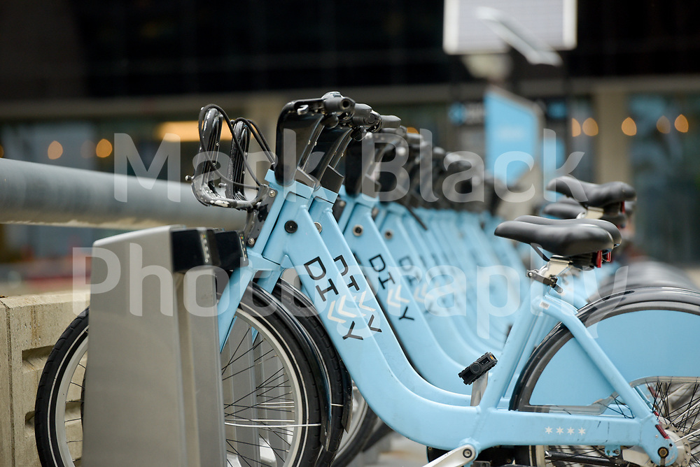 Divy bike rack in Chicago, Illinois. Photo by Mark Black