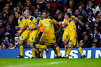 Peter Clarke of Southend United celebrates his goal. Chelse  Vs Southend United F A CUP 3rd Round  at  Stamford Bridge Stadium. 03/01/2009. <br /> Credit Colorsport / Kieran Gavin