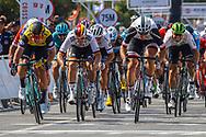 Arrival sprint Dylan Groenewegen (NED - Team LottoNL - Jumbo) winner, Max Walscheid (GER - Team Sunweb), Pascal Ackermann (GER - Bora - Hansgrohe) during the Tour of Guangxi 2018, stage 1, Beihai - Beihai 107,4 km on October 16, 2018 in Beihai, China - Photo Luca Bettini / BettiniPhoto / ProSportsImages / DPPI