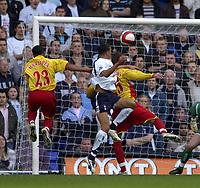 Photo: Olly Greenwood.<br /> Tottenham Hotspur v Watford. The Barclays Premiership. 17/03/2007. Tottenham's Jermaine Jenas scores