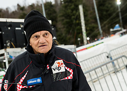 """Ante Kostelic, father of Ivica and Janica Kostelic after the 1st Run of FIS Alpine Ski World Cup 2017/18 Men's Slalom race named """"Snow Queen Trophy 2018"""", on January 4, 2018 in Course Crveni Spust at Sljeme hill, Zagreb, Croatia. Photo by Vid Ponikvar / Sportida"""