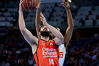 Real Madrid's Anthony Randolph and Valencia Basket's Bojan Dubljevic/ during Quarter Finals match of 2017 King's Cup at Fernando Buesa Arena in Vitoria, Spain. February 19, 2017. (ALTERPHOTOS/BorjaB.Hojas)