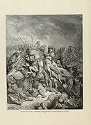 Richard and Saladin at  the battle of Arsur [Arsuf, Apollonia  7 September 1191 fought between the forces of Richard I of England and Saladin] by Dore Plate XLIX from the book Story of the crusades. with a magnificent gallery of one hundred full-page engravings by the world-renowned artist, Gustave Doré [Gustave Dore] by Boyd, James P. (James Penny), 1836-1910. Published in Philadelphia 1892