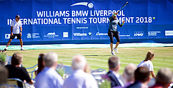 LIVERPOOL, ENGLAND - Friday, June 22, 2018: Corporate guests watch Vera Zvonareva (RUS) during day two of the Williams BMW Liverpool International Tennis Tournament 2018 at Aigburth Cricket Club. (Pic by Paul Greenwood/Propaganda)
