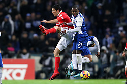 December 1, 2017 - Porto, Porto, Portugal - Porto's Portuguese defender Ricardo Pereira (R) vies with Benfica's Mexican forward Raul Jimenez (L) during the Premier League 2016/17 match between FC Porto and SL Benfica, at Dragao Stadium in Porto on December 1, 2017. (Credit Image: © Dpi/NurPhoto via ZUMA Press)
