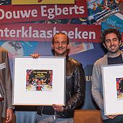 NLD/Amsterdam/20131112 - Presentatie DE Sinterklaasboeken, Michiel Acda, Najib Amhali en Nils Pieters