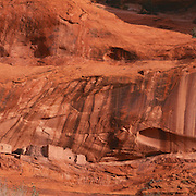 JUnction Ruin sits high up in a redrock niche in Canyon de Chelly National Monument on the Navajo Reservation in Arizona. .