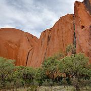 Uluru (Ayers Rock or Red Rock) in Northern Territory. World Heritage Site, Uluru-Kata Tjuta National Parl is sacred to the Anangu, the Arboriginal People of the area.