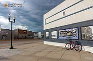 Bicyling along the Cowboy Trail in Bassett, Nebraska, USA