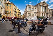 Street scene in  downtown Nice on the French Riviera (Cote d'Azur)