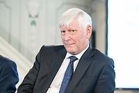 """06 JUN 2018, BERLIN/GERMANY:<br /> Dr. Rolf Martin Schmitz, Vorstandsvorsitzender RWE AG, 27. BBH-Energiekonferenz """"Die Energiewende"""", Franzoesische Friedrichstadtkirche<br /> IMAGE: 20180606-01-139"""