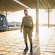 Train station in Yazd city,  famous for its architecure, its wind towers and its traditional zoroastrian community of fire worshippers.  <br /> <br /> Travelling over 4000km by train across Iran. An opportunity to enjoy Persian hospitality, discover Iran's ancient cities and its varied landscapes, from deserts to mountains.