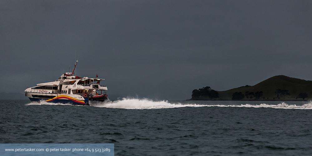 Fullers ferry on evening run to Waiheke Island