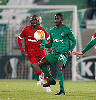 RAZGRAD, BULGARIA - OCTOBER 22: Stephane Badji of Ludogorets controls the ball during the UEFA Europa League Group J stage match between PFC Ludogorets Razgrad and Royal Antwerp at Ludogorets Arena on October 22, 2020 in Razgrad, Bulgaria. (Photo by Nikola Krstic/MB Media)