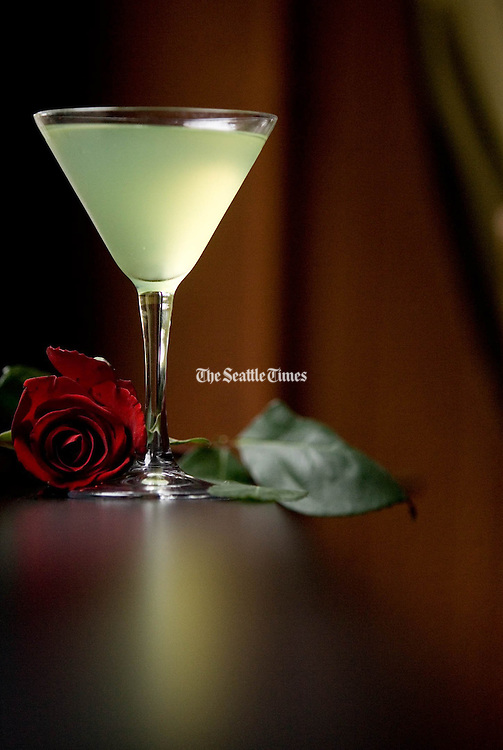 """A cocktail called the """"Last Word"""" from an early 1950s book """"Bottoms Up"""" by Ted Saucier. The drink has been a hit around the world. <br /> (Photo of by Erika Schultz / The Seattle Times)"""