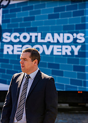 Pictured: <br />Scottish Conservative Leader Douglas Ross was joined by Rurh Davidson as they unvieled an addvamn as postal ballots arrive across Scotland. <br /><br />Ger Harley | EEm 5 April 2021