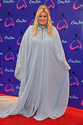 © Licensed to London News Pictures. 25/08/2021. London, UK. GEMMA COLLINS arrives for the gala performance of Andrew Lloyd Webber's Cinderella showing at the Gillian Theatre, Dury Lane. Photo credit: Ray Tang/LNP