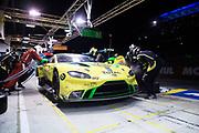 June 12-17, 2018: 24 hours of Le Mans. 97 Aston Martin Racing, Aston Martin Vantage, Jonathan Adam, Alex Lynn, Maxime Martin , pitstop