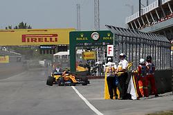 June 9, 2019 - Montreal, Canada - xa9; Photo4 / LaPresse.09/06/2019 Montreal, Canada.Sport .Grand Prix Formula One Canada 2019.In the pic: Lando Norris (GBR) Mclaren F1 Team MCL34 retires from the race (Credit Image: © Photo4/Lapresse via ZUMA Press)