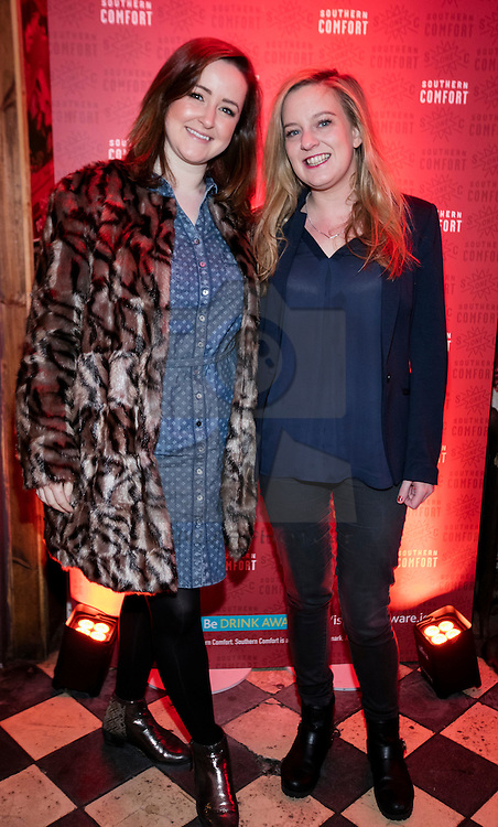 Repro Free:  13/01/2016 <br /> Claire Concannon and Emily Brew pictured at a night of comedy with Southern Comfort and Neil Delamere in an intimate gig at Whelan's. Picture Andres Poveda