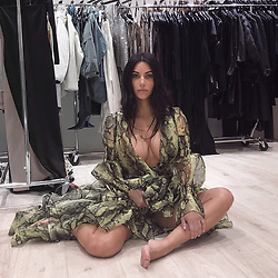 """Kim Kardashian releases a photo on Twitter with the following caption: """"""""Fittings...."""""""". Photo Credit: Twitter *** No USA Distribution *** For Editorial Use Only *** Not to be Published in Books or Photo Books ***  Please note: Fees charged by the agency are for the agency's services only, and do not, nor are they intended to, convey to the user any ownership of Copyright or License in the material. The agency does not claim any ownership including but not limited to Copyright or License in the attached material. By publishing this material you expressly agree to indemnify and to hold the agency and its directors, shareholders and employees harmless from any loss, claims, damages, demands, expenses (including legal fees), or any causes of action or allegation against the agency arising out of or connected in any way with publication of the material."""