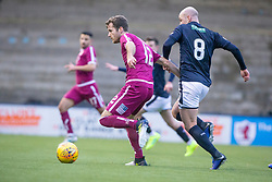 Arbroath's Danny Denholm and Raith Rovers Grant Gillespie. Raith Rovers 0 v 1 Arbroath. Scottish Football League Division One game played 16/2/2109 at Stark's Park.