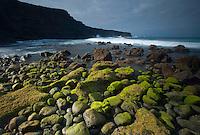 Coastal areas in Timanfaya National Park, Lanzarote Island, Canary Islands, Spain.