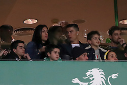 February 3, 2019 - Lisbon, Portugal - Portugal's and Juventus' forward Cristiano Ronaldo and Georgina Rodriguez attend the Portuguese League football match Sporting CP vs SL Benfica at Alvalade stadium in Lisbon, Portugal on February 3, 2019. (Credit Image: © Pedro Fiuza/NurPhoto via ZUMA Press)
