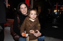 CLARE JAMES wife of musician Alex James and their son JERONIMO at a party to celebrate the launch of DKNY Kids and Halloween in aid of CLIC Sargent and RX Art held at DKNY, 27 Old Bond Street, London on 31st October 2006.<br /><br />NON EXCLUSIVE - WORLD RIGHTS