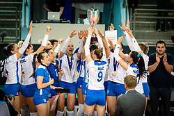Team of Bosnia & Herzegovina during medal ceremony after volleyball match between Slovenia and Portugal in CEV Volleyball European Silver League 2021, on 12 of June, 2021 in Dvorana Ljudski Vrt, Maribor, Slovenia. Photo by Blaž Weindorfer / Sportida