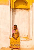 Girl at the Amber Fort, Amber (near Jaipur), Rajasthan, India