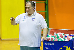 Simon Bozic, coach of Slovenia during friendly Sitting Volleyball match between National teams of Slovenia and China, on October 22, 2017 in Sempeter pri Zalcu, Slovenia. (Photo by Vid Ponikvar / Sportida)