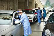 Tamponi drive-in all'Ospedale di Rivoli (TO) 19 ottobre 2020