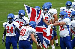 27.07.2010, Wetzlar Stadion, Wetzlar, GER, Football EM 2010, Team France vs Team Great Britain, im Bild Einmarsch von Dale Powell, (Team Great Britain, LB, #40),  EXPA Pictures © 2010, PhotoCredit: EXPA/ T. Haumer