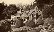 Wind's Point, the house in the Malvern Hills, Worcestershire, England, bought by George (1839-1922) and Richard (1835-1899) Cadbury, the English Quaker Chocolate manufacturers,  as a country retreat for their families.  The Swedish soprano Jenny Lind (1820-1887) lived here for her last 15 years before the Cadburys acquired it. Halftone after a photograph c1920 from 'The Life of George Cadbury' by AG Gardiner (London, 1923).