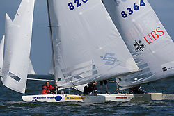 Medemblik - the Netherlands, May 28th 2009. Delta Lloyd Regatta in Medemblik (27/31 May 2009). Day 2. Robert Scheidt and Bruno Prada during the first race of day two leading Flavio Marazzi..