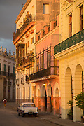 Buildings with colonial architecture on city, Havana, Cuba